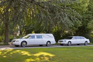 Witte staatsie Cadillac