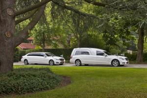 Witte staatsie Mercedes